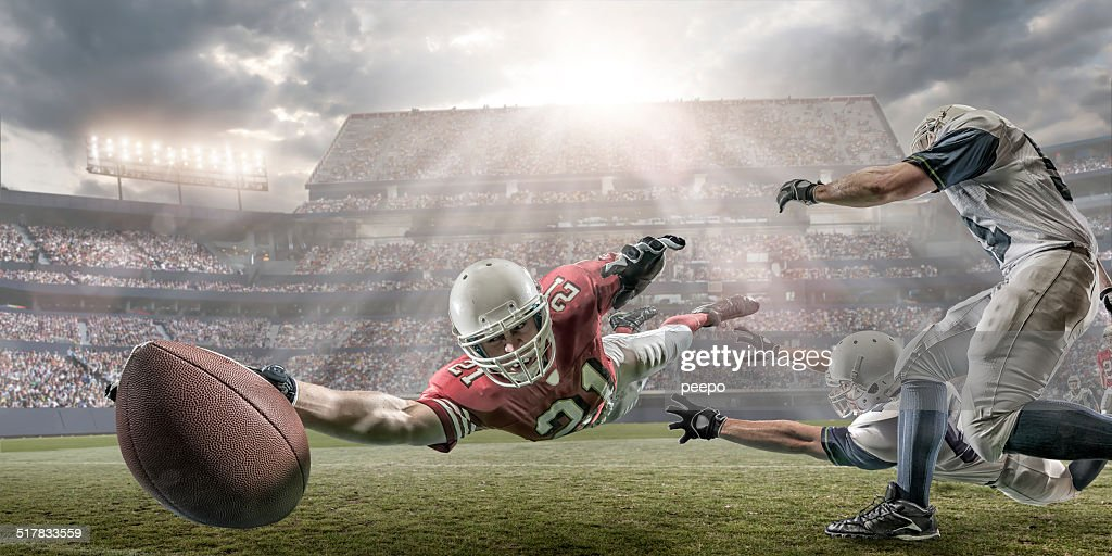 American Football Touchdown : Stock Photo