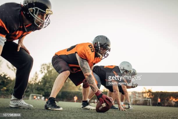american football training outdoors - guard american football player stock photos and pictures