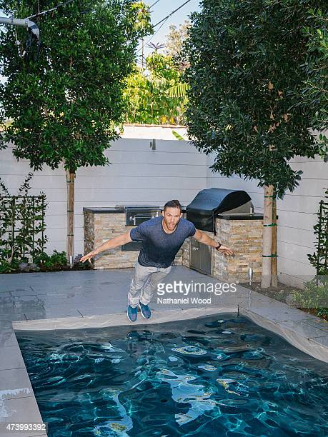 HOLLYWOOD CA MARCH 25 2015 American football wide receiver and punt returner for the New England Patriots Julian Edelman is photographed for ESPN The...