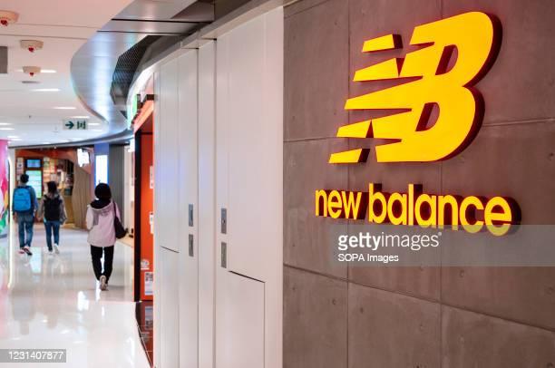 American footwear brand, New Balance store seen in Hong Kong.