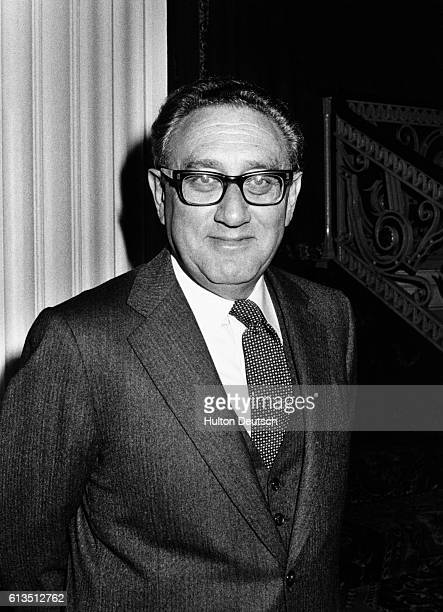 """American Foreign Secretary, Dr Henry Kissinger, promoting his book """"The White House Years, at Grosvenor House, London, 1979."""