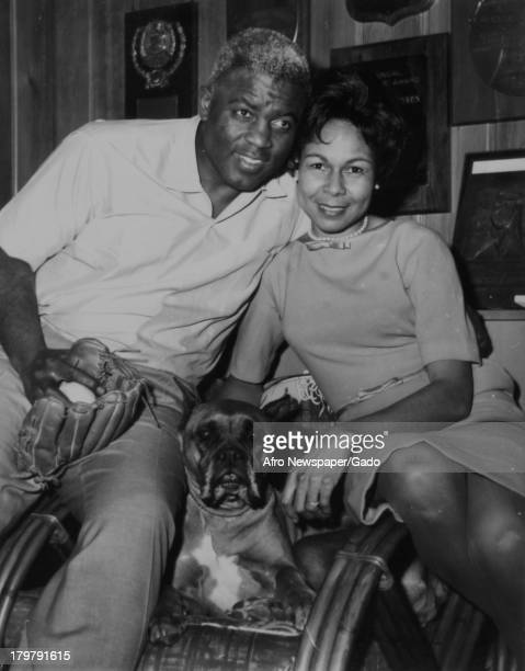 American former baseball player Jackie Robinson of the Brooklyn Dodgers is shown in his home at North Stamford Stamford Connecticut January 23 1962...