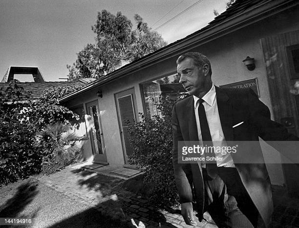 APPLY American former baseball player Joe DiMaggio leaves Westwood Village Memorial Park Cemetery Los Angeles California August 6 1962 He had just...