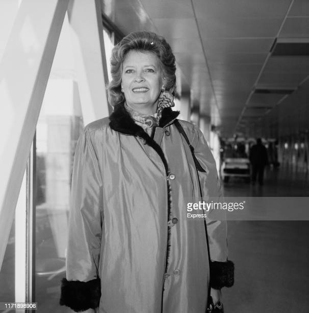American former businesswoman and politician Martha Layne Collins 56th governor of Kentucky at Heathrow Airport London UK 7th December 1984