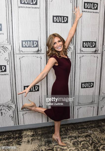 American former gymnast Shannon Miller attends the Build Series to discuss her partnership with Tesaro 'Our Way Forward' program at Build Studio on...