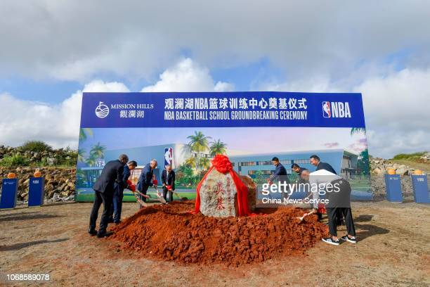 American former professional basketball player Stephon Marbury attends NBA Basketball School groundbreaking ceremony on November 16, 2018 in Haikou,...