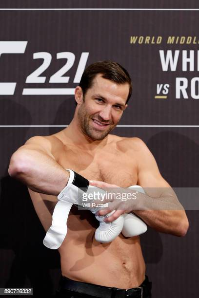 American former UFC middleweight champion Luke Rockhold during a UFC 221 workout session on December 12 2017 in Perth Australia