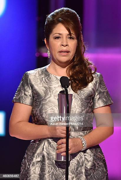 American Fraternity Executive Director Nora Sandigo accepts the Hero of the Year Award onstage during the PEOPLE Magazine Awards at The Beverly...