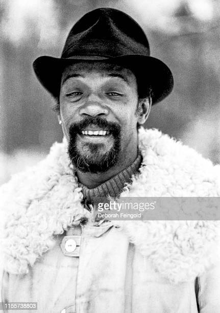 American free jazz and avantgarde saxophone player Joseph Jarman poses for a portrait in 1979 in New York City New York
