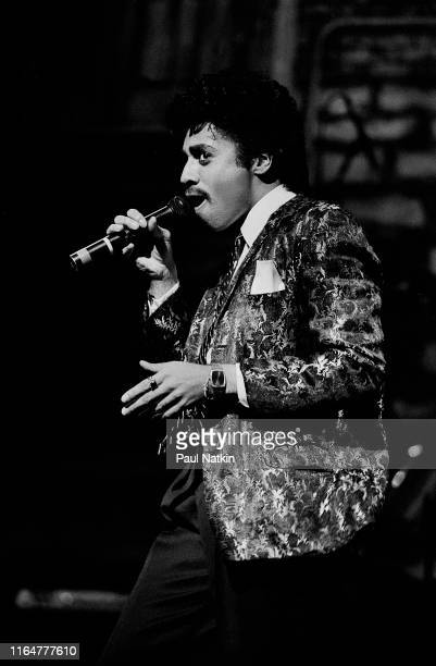 American Funk and Pop musician Morris Day of the Time performsn onstage at the Auditorium Theatre Chicago Illinois December 9 1982