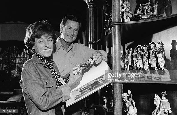 American game show host Bob Barker and his wife Dorothy Jo show off part of their extensive collection of militarythemed ceramic figurines November 4...
