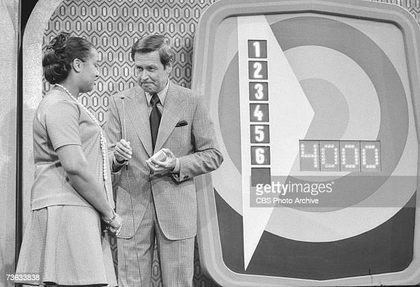 American game show host Bob Barker waits for an answer from an unidentified contestant during an episode of the CBS game show 'The Price is Right'...