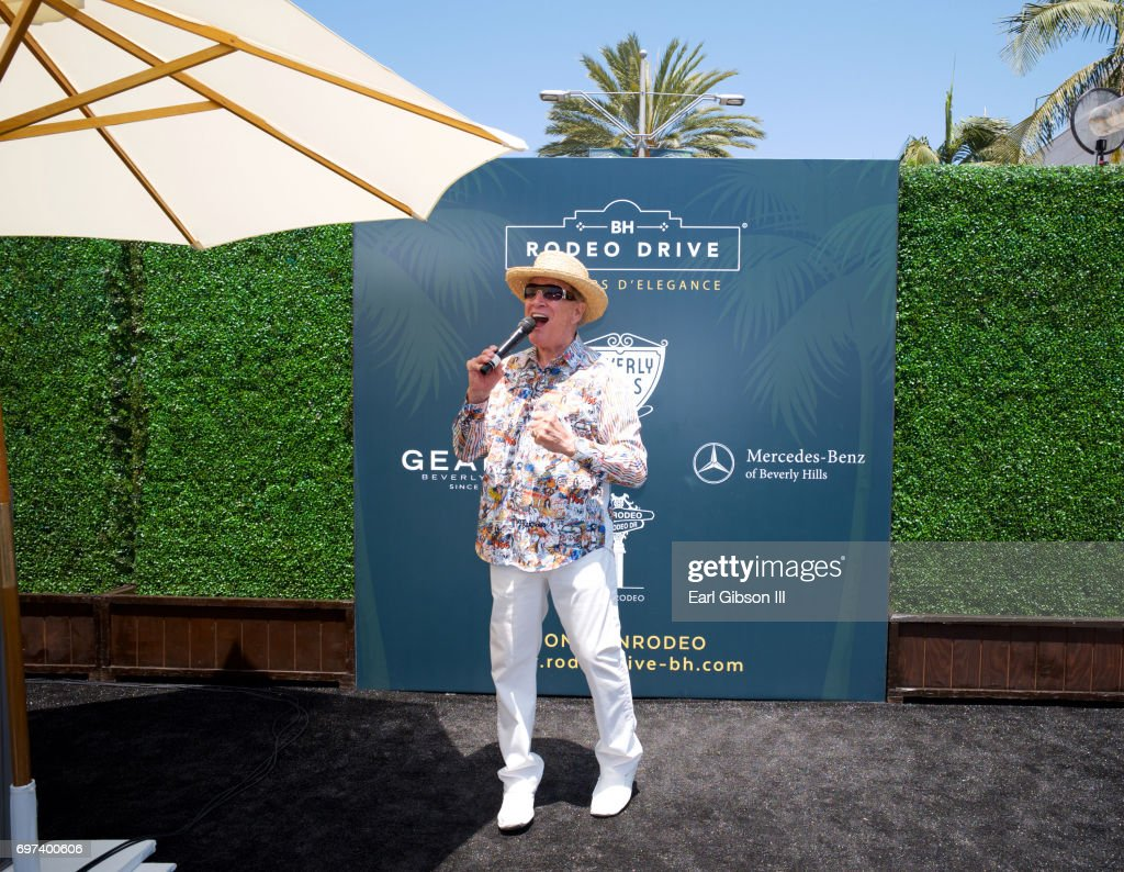 American game show host Wink Martindale speaks at the Rodeo Drive Concours d'Elegance on June 18, 2017 in Beverly Hills, California.