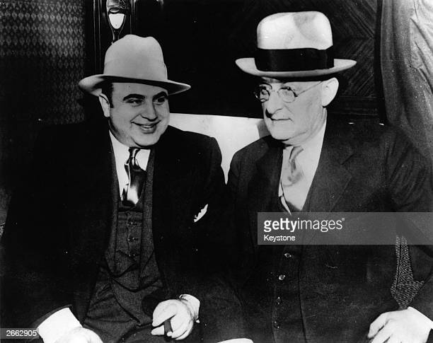American gangster Al Capone with US Marshall Laubenheimar. Original Publication: People Disc - HC0216