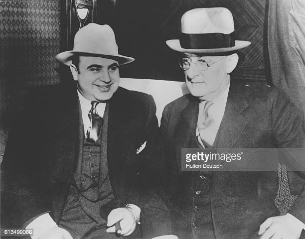 American gangster Al Capone with US Marshall Laubenheimer Alphonse Capone consolidated his reputation as a rackateer during Prohibition in the 1920s...