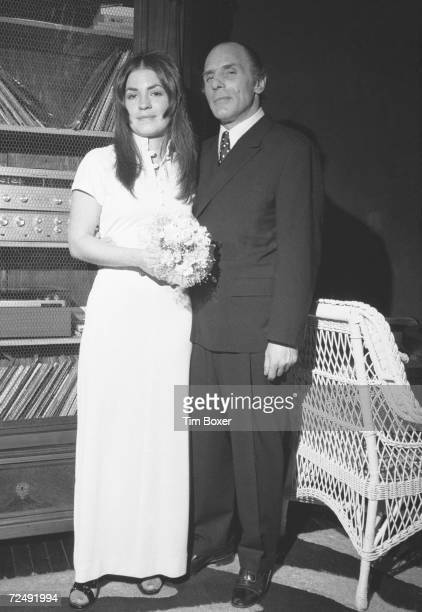 American gangster Joe Gallo also known as Crazy Joey poses his wife Sina Essary at their wedding reception New York New York mid March 1972 Gallo was...