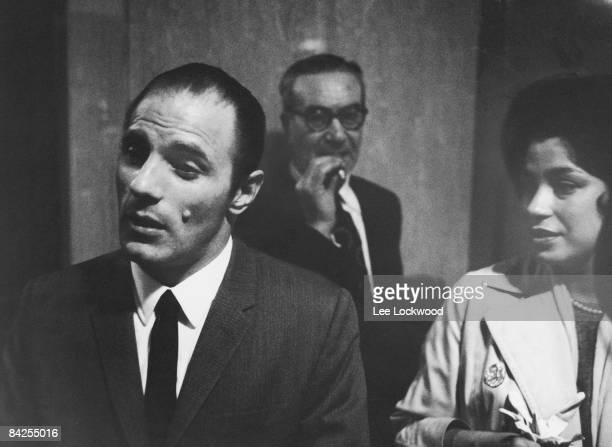 American gangster Joe Gallo and an unidentified woman in a Brooklyn courthouse Brooklyn New York 1961