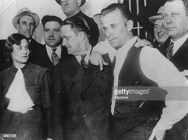 American gangster John Dillinger with a group of friends