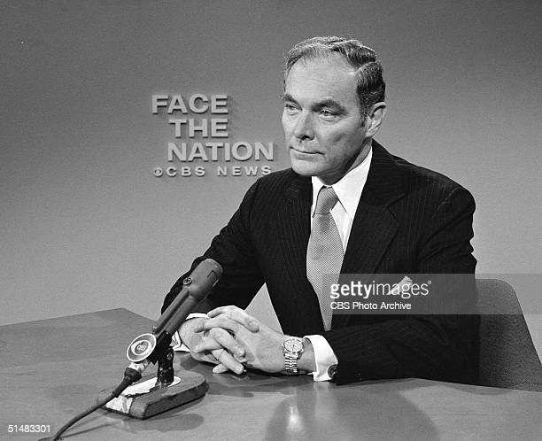 American general and public official Alexander Haig appears on 'Face the Nation' Washington DC October 28 1973 Haig served as President Nixon's chief...