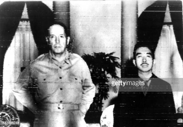 American General MacArthur and Japan's Emperor Hirohito in 1945 few weeks after Japan's surrender 02 September 1945 Crowned 124th Emperor of Japan in...