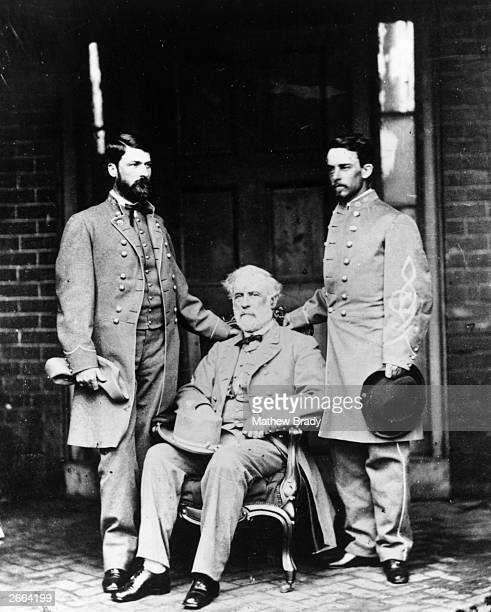 American General Robert E Lee and his staff