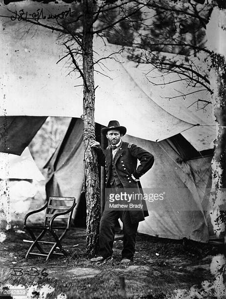 American General Ulysses Simpson Grant later the 18th President of the United States of America at his headquarters City Point during the American...