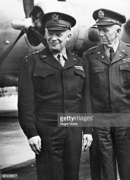 American Generals Dwight Eisenhower and George Marshall 1945