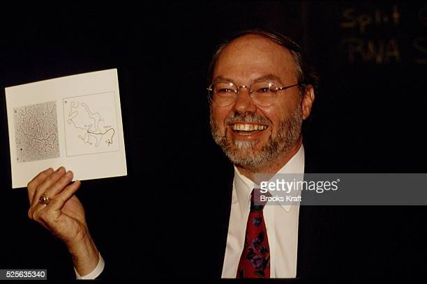 American geneticist and molecular biologist Phillip Allen Sharp wins the 1993 Nobel Prize in Physiology or Medicine with Richard J Roberts fortheir...