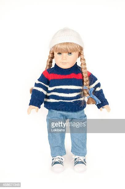 American Girl rubia muñeca Kirsten con mallas