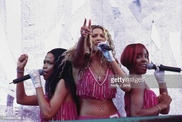 American girl group Destiny's Child at the Party in the Park concert in aid of the Princes Trust, Hyde Park, London, 8th July 2001. Left to right:...