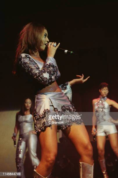American girl group Destiny's Child performing at the Shepherd's Bush Empire London 12th March 2000 Left to right Farrah Franklin Beyoncé Knowles and...