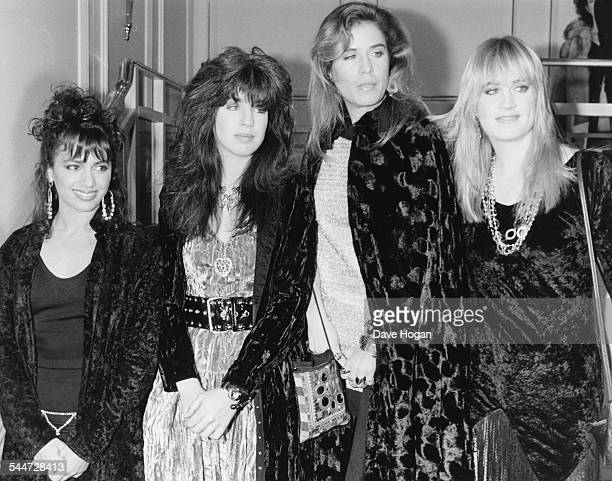 American girl group 'The Bangles' at the BPI Awards where they won the Best International Group award London February 9th 1987