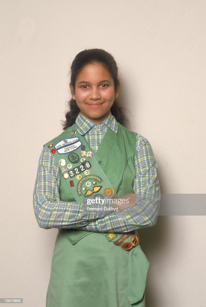 Top Girl Scout Cookie Seller : News Photo