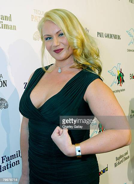 American Gladiator Robin Coleman arrives at Children Uniting Nations' 9th annual awards celebration and viewing dinner held at the Beverly Hilton...