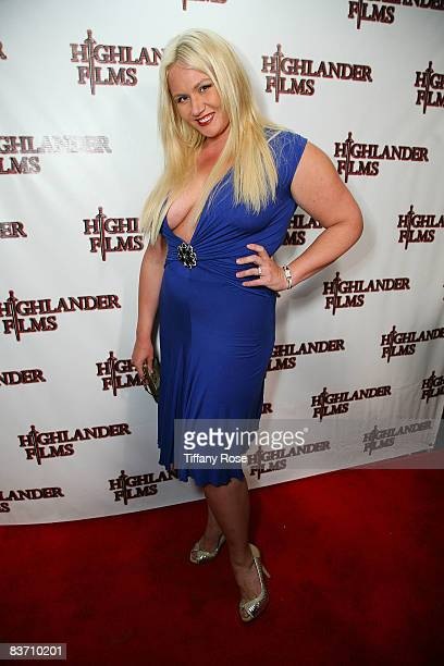 American Gladiator Robin Coleman attends William Romeo's Birthday Party at Cinespace on November 15 2008 in Hollywood California