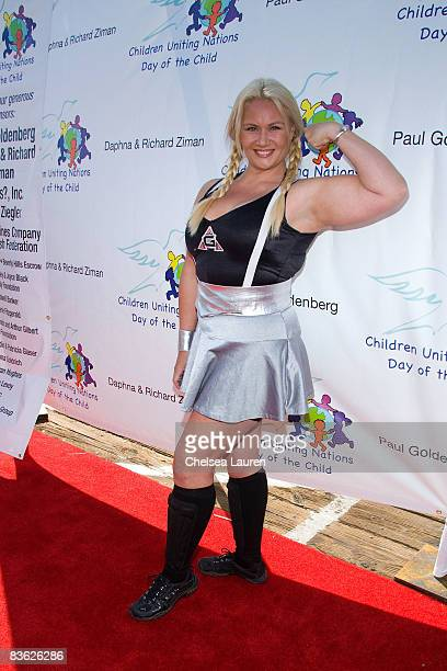 American Gladiator Robin Helga Coleman attends the 10th Annual Day Of the Child at The Santa Monica Pier on November 9 2008 in Santa Monica California