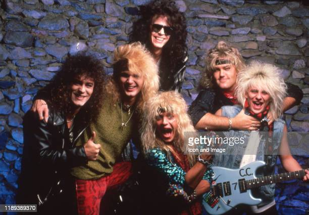 American glam rock band Poison including Bret Michaels Rikki Rockett CC Deville and Bobby Dall on January 9 at the Joe Louis Arena in Detroit Michigan