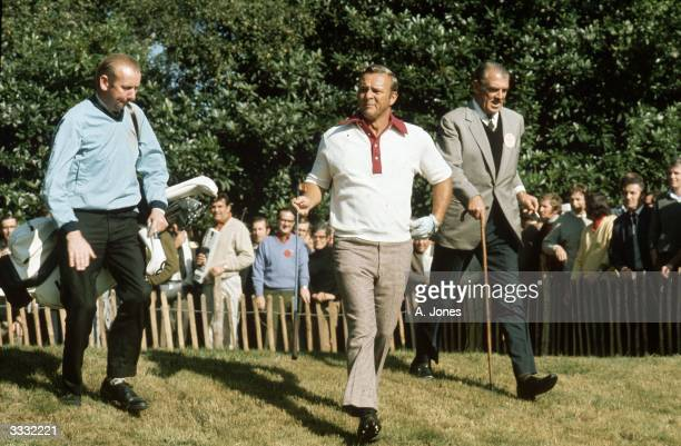 American golfer Arnold Palmer during a championship at Wentworth.