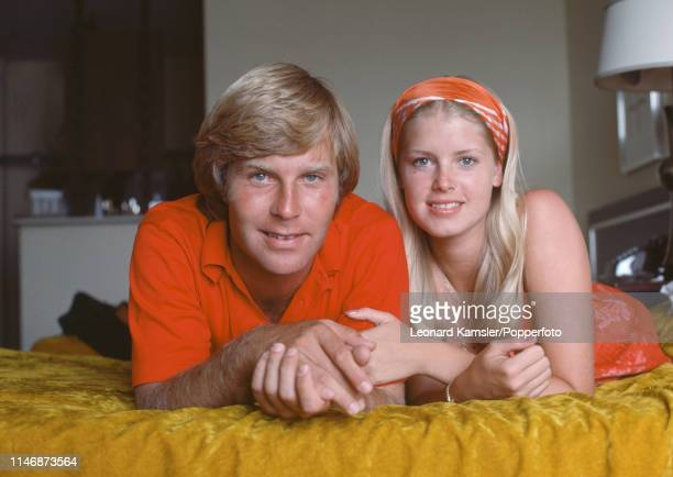 American golfer Ben Crenshaw with his wife Polly circa 1976