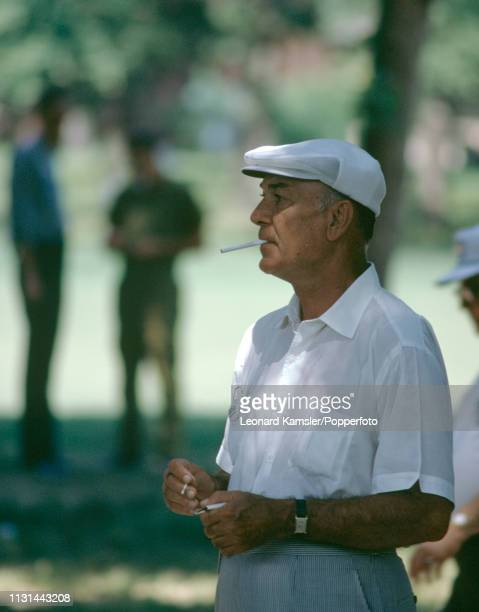 American golfer Ben Hogan smoking circa June 1969