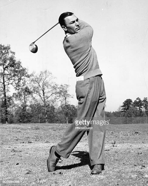 American golfer Ben Hogan takes a swing on an unidentified course 1951 Hogan was winner of both the 1950 and 1951 US National Open championships