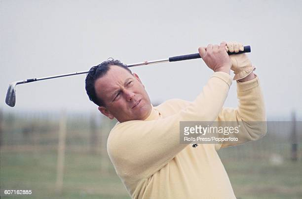American golfer Billy Casper competes in the second round of The 1968 Open Championship at Carnoustie Golf Links in Scotland on 11th July 1968