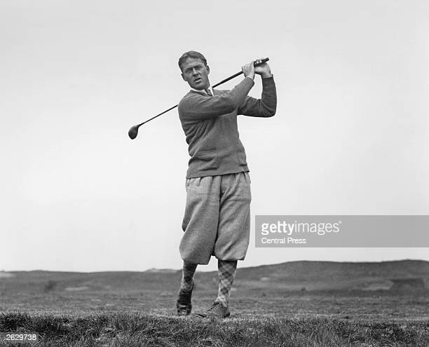 American golfer Bobby Jones at Muirfield in East Lothian Jones won the British Open three times and the US Open four times