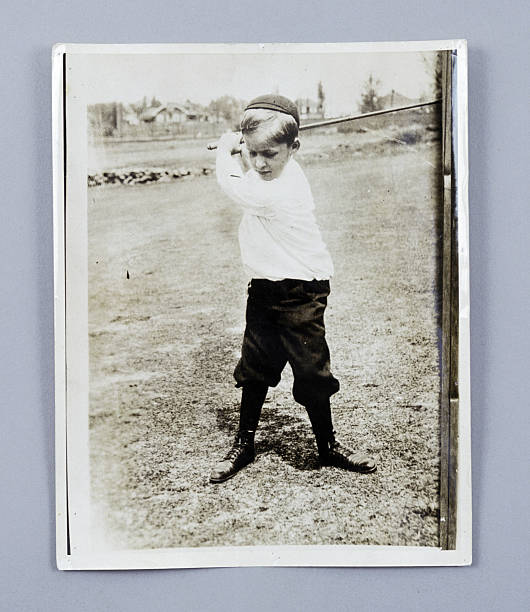 American golfer Bobby Jones playing as a young child, c1909 ...