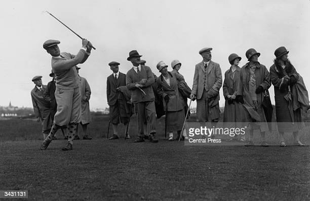 American golfer Bobby Jones playing at St Annes Scotland