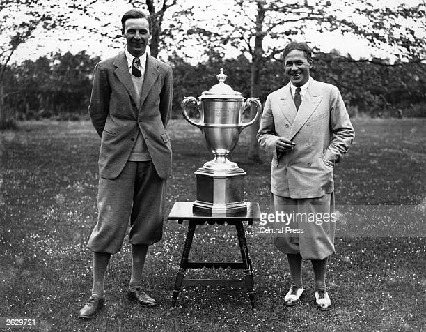 American golfer Bobby Jones with the Walker Cup at Sandwich Original Publication People Disc HW0145