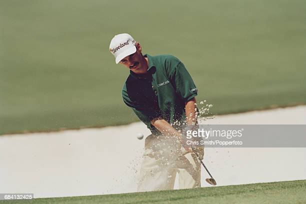 American golfer Corey Pavin pictured in action during competition in the 1995 Masters Tournament at Augusta National Golf Club in Augusta Georgia in...