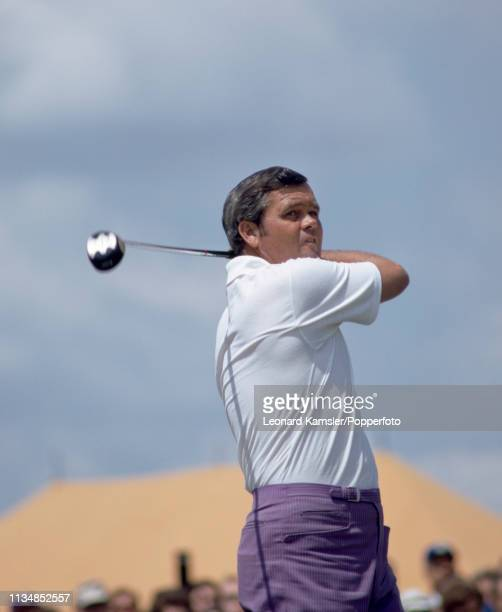 American golfer Gay Brewer teeing off circa 1970