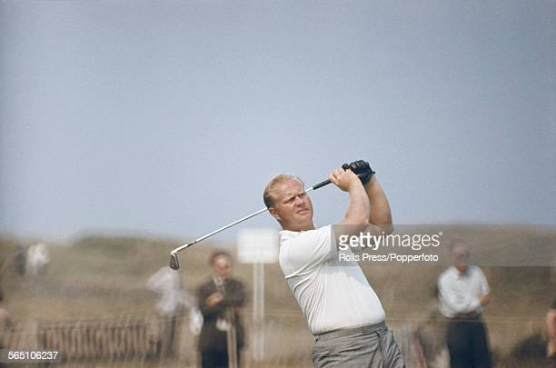 American golfer Jack Nicklaus competes at the British Open Championship at the Royal Liverpool Golf Club at Hoylake on the Wirrell in July 1967...