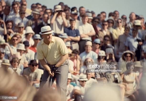 American golfer Jack Nicklaus enroute to victory during the US Masters Golf Tournament at the Augusta National Golf Club in Augusta Georgia circa...